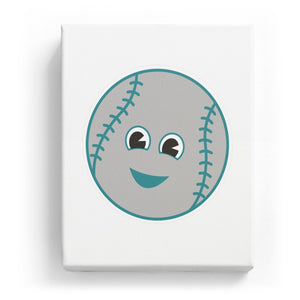 Baseball with a Face - No Background (Mirror Image)