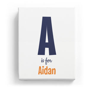 A is for Aidan - Cartoony