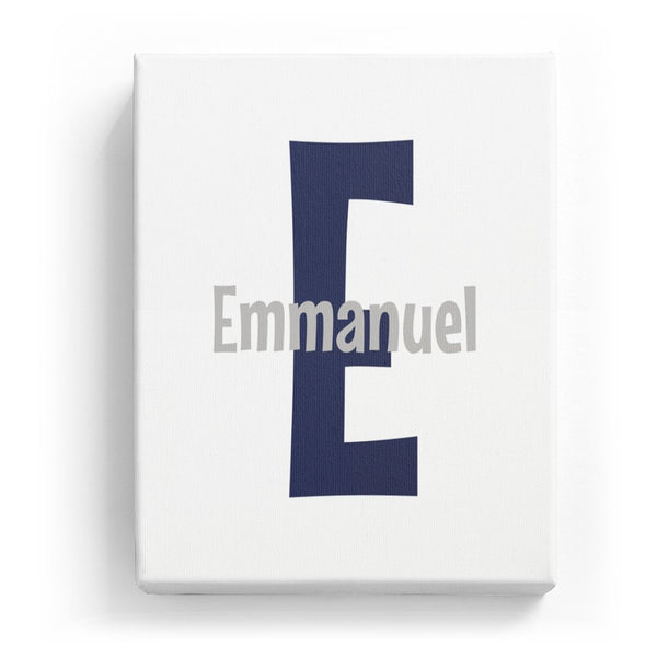 Emmanuel Overlaid on E - Cartoony