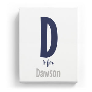 D is for Dawson - Cartoony