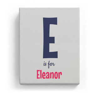 E is for Eleanor - Cartoony