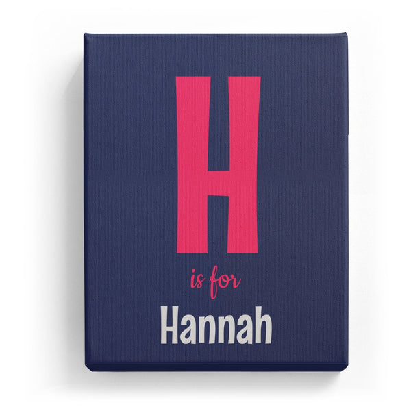 H is for Hannah - Cartoony