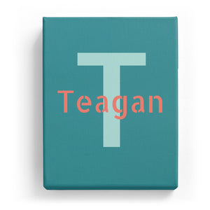 Teagan Overlaid on T - Stylistic