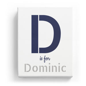 D is for Dominic - Stylistic