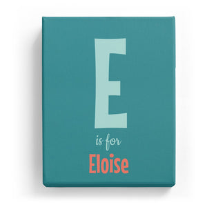 E is for Eloise - Cartoony