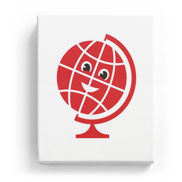 Globe with Face - No Background (Mirror Image)