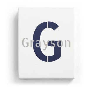 Grayson Overlaid on G - Stylistic