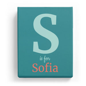 S is for Sofia - Classic