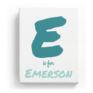 E is for Emerson - Artistic