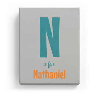 N is for Nathaniel - Cartoony
