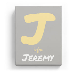 J is for Jeremy - Artistic