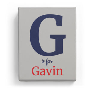 G is for Gavin - Classic