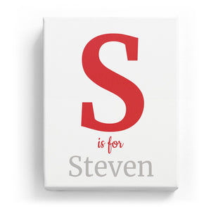 S is for Steven - Classic
