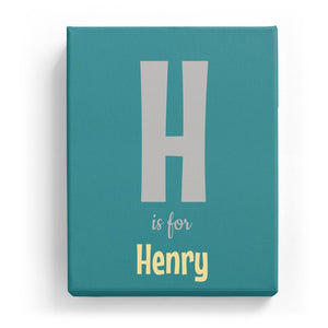 H is for Henry - Cartoony