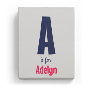 A is for Adelyn - Cartoony