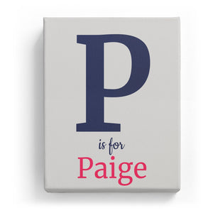 P is for Paige - Classic