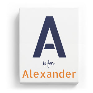 A is for Alexander - Stylistic