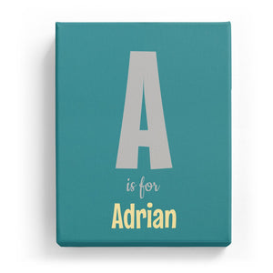 A is for Adrian - Cartoony