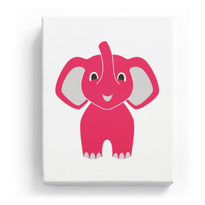 Adorable Elephant - No Background (Mirror Image)