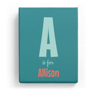 A is for Allison - Cartoony