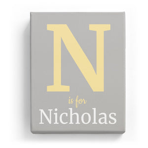 N is for Nicholas - Classic