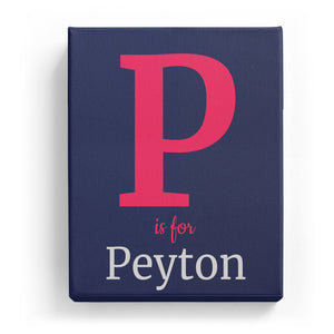 P is for Peyton - Classic