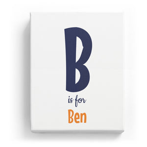 B is for Ben - Cartoony