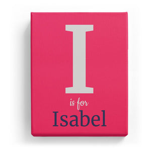I is for Isabel - Classic