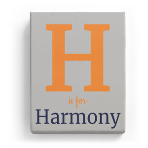 H is for Harmony - Classic
