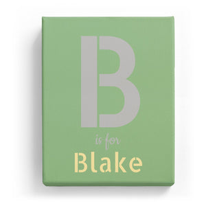 B is for Blake - Stylistic