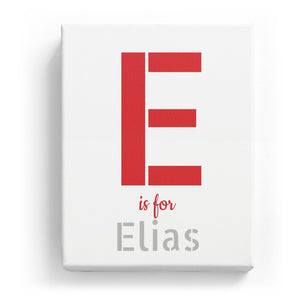 E is for Elias - Stylistic
