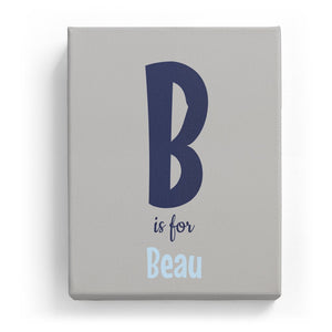 B is for Beau - Cartoony