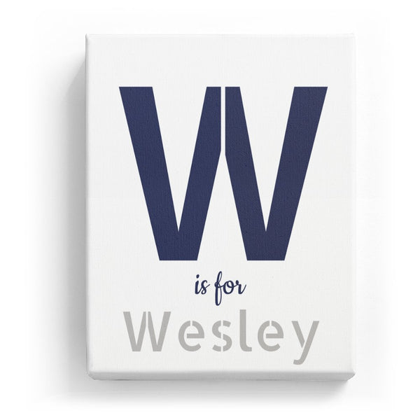 W is for Wesley - Stylistic
