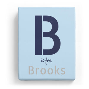 B is for Brooks - Stylistic