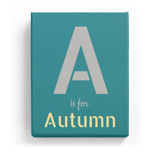 A is for Autumn - Stylistic