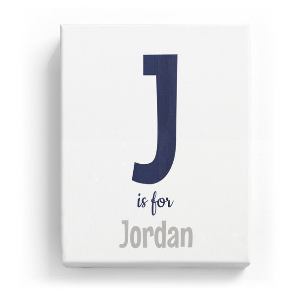 J is for Jordan - Cartoony