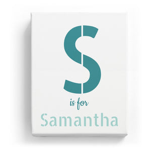 S is for Samantha - Stylistic