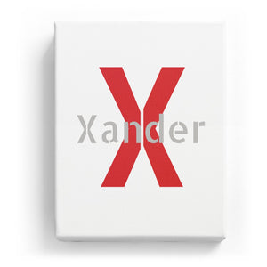 Xander Overlaid on X - Stylistic