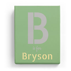 B is for Bryson - Stylistic