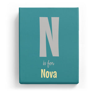 N is for Nova - Cartoony