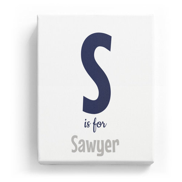 S is for Sawyer - Cartoony