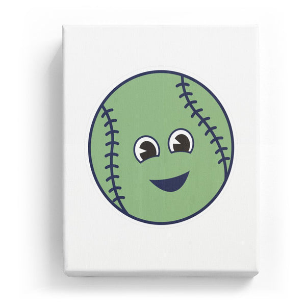 Baseball with a Face - No Background