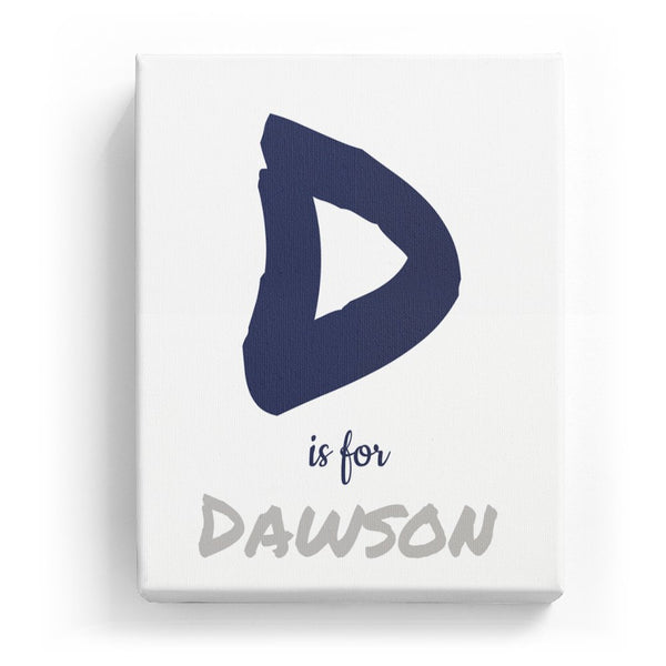 D is for Dawson - Artistic