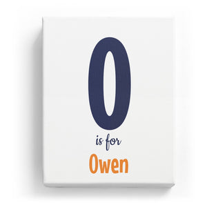 O is for Owen - Cartoony