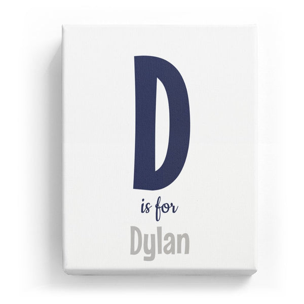 D is for Dylan - Cartoony