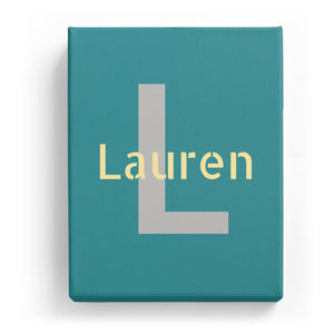 Lauren Overlaid on L - Stylistic