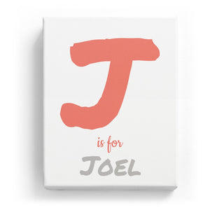 J is for Joel - Artistic
