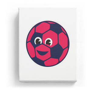Soccer with a Face - No Background (Mirror Image)