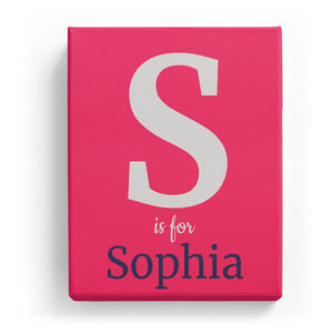 S is for Sophia - Classic