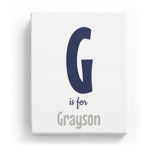 G is for Grayson - Cartoony